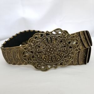 Elastic Boho Gypsy Metallic Belt Stretch